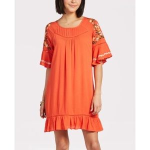 Evereve Allison Joy Dahlia Embroidered Dress NWT